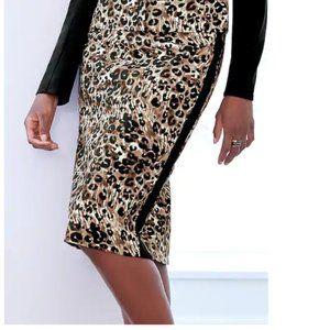 (NWOT) Women's Plus Cheetah Pencil Skirt Sz: 20W